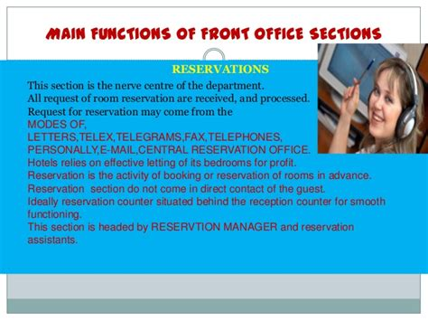 section of front office sections of front office department in hotels
