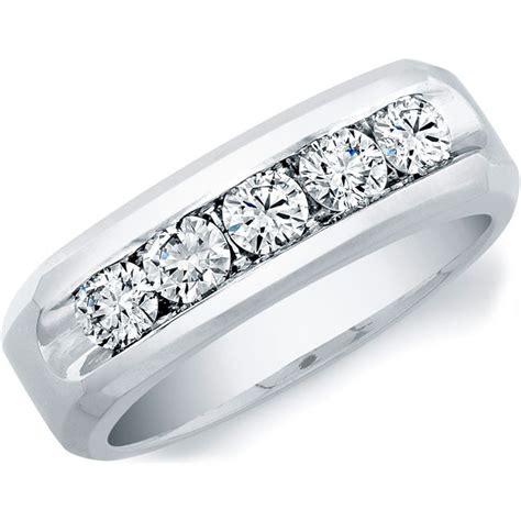 Channel Set Diamond Wedding Band White Gold