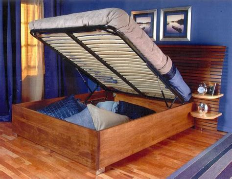 lift and store beds diy platform bed lift kit the bedroom storage solution