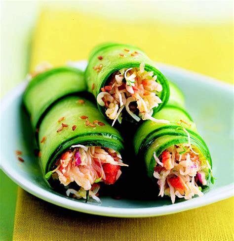 cuisine concombre recette rouleaux de concombre au crabe