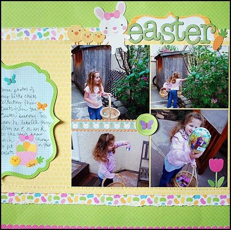 scrapbook layout easter 77 best images about scrapbook easter pages on pinterest