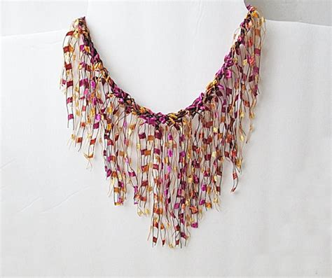 free pattern ladder yarn necklace ribbon yarn necklace ladder yarn necklace trellis by