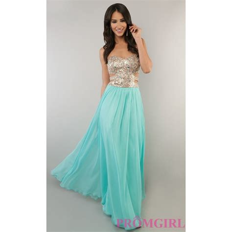 strapless gown with cut out sides by brand prom