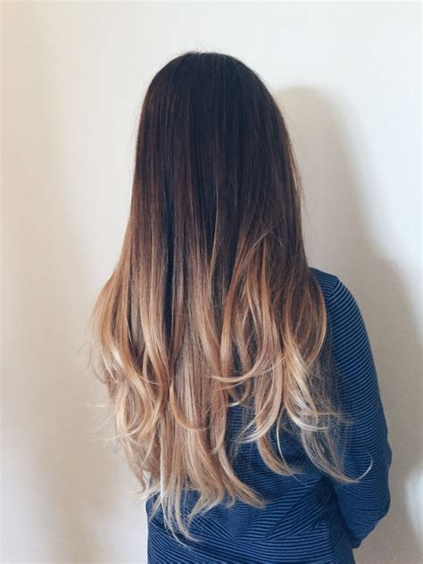 pictures of brown and blode ombre hair balayage ombre dark brown to light blonde using olaplex