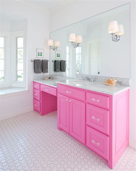 pink bathroom cabinets bathroom design ideas