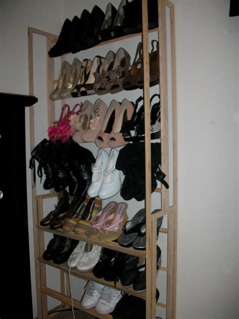 diy shoe racks shoe rack my hubbies creations diy
