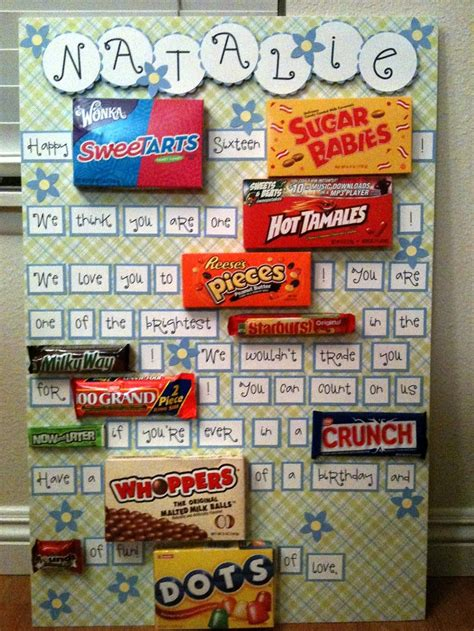 candy christmas boards for co workers best birthday posters ideas on poster board birthday cards and