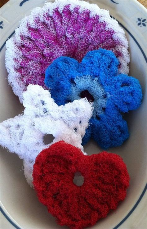 knitted scrubbies netting pot scrubber dish scrubber 4 layered