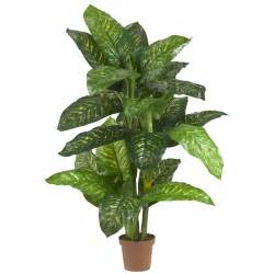 silk plants 5 foot dieffenbachia potted 6573 nearly natural