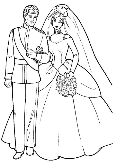 cartoon barbie coloring page girls coloring pages barbie and ken wedding barbie