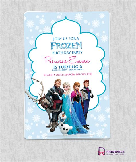 printable frozen birthday party invitations free frozen birthday invitation template wedding