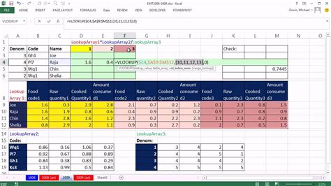 Vlookup Table Array by Excel Magic Trick 1009 Lookup 3 Different Arrays From 3