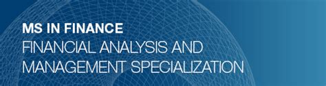 Master Of Science In Finance And Joint Mba by Financial Analysis And Management Specialization Ms In