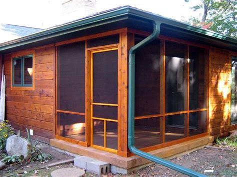 half screen porch half storage shed cottage and coastal