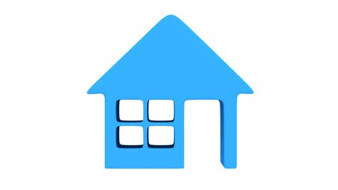 house icon rotate animation seamless looping hd