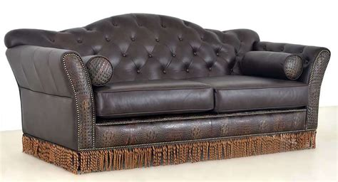 arts crafts style leather furniture the leather sofa