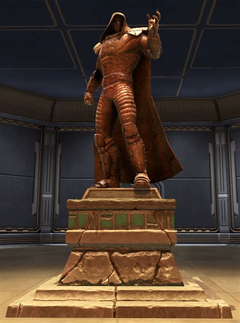 tor decorating commemorative statue  darth malgus swtor