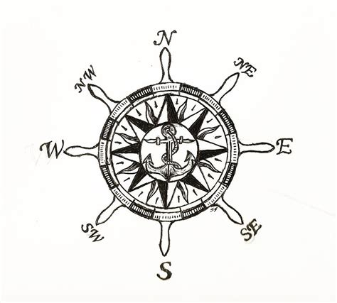 how to draw a boat steering wheel ship wheel compass drawing by shane silva