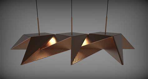Origami Light Fixture - resch origami lighting series3 fubiz media