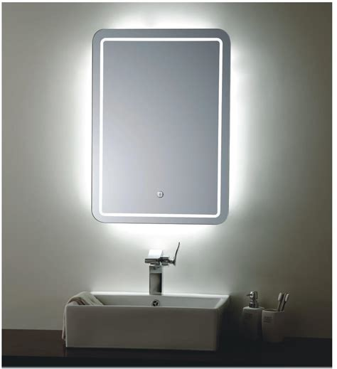 lighted mirrors for bathrooms backlit mirror led bathroom mirror bellagio