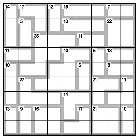 printable intermediate killer sudoku killer sudoku