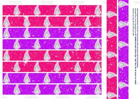 printable paper chains christmas pink purple xmas tree paper chains cup281228 698