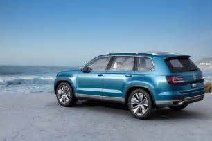 2014 volkswagen crossblue 7 seater suv concept at detroit