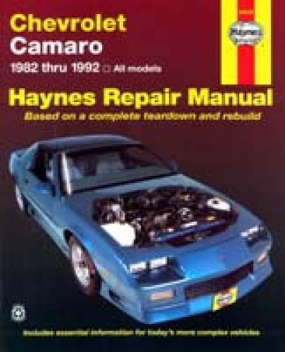 haynes chevrolet camaro 1982 1992 auto repair manual