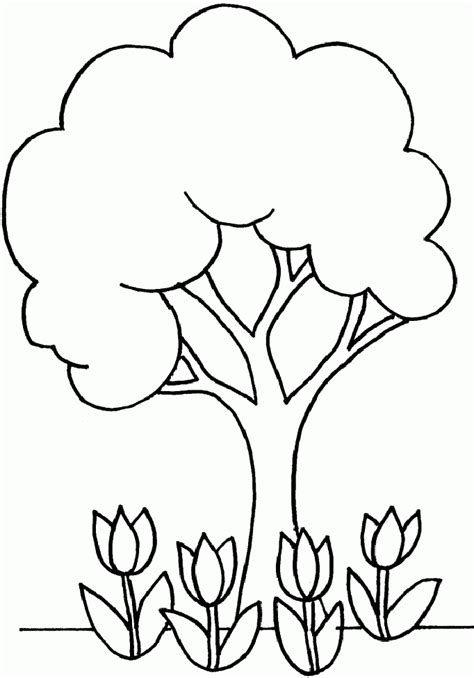 Simple Tree Coloring Page Coloring Home Simple Tree Coloring Pages