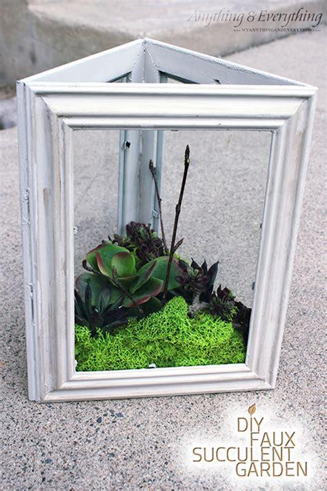 Succulent Garden Diy by Diy Faux Succulent Garden Using Dollar Store Frames