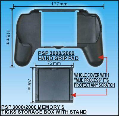 Handgrip Psp psp slim 3000 2000 series grip pad w memory stick