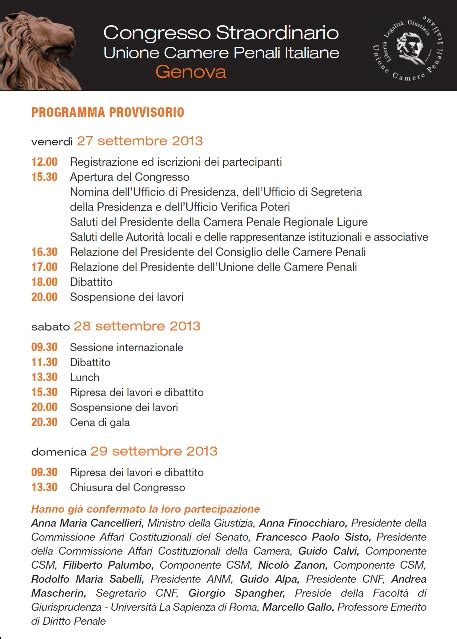 29 settembre testo congresso straordinario ucpi genova 27 29 settembre 2013