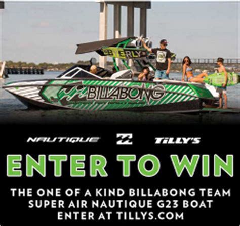 Billabong Nautique Sweepstakes - tilly s win the 2013 super air nautique g23 billabong team edi