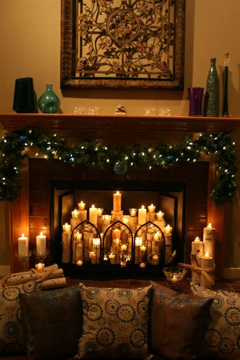 candles in fireplace best 25 candle fireplace ideas on