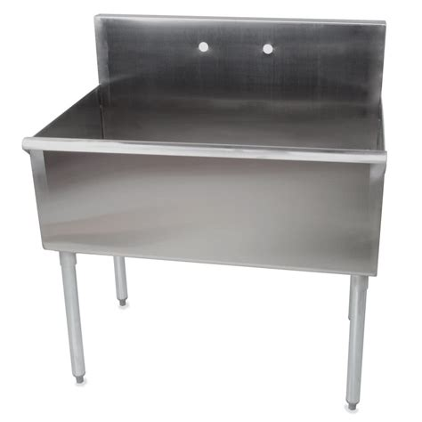 stainless steel utility sink regency 36 quot 16 gauge stainless steel one compartment