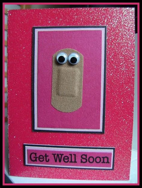 get well soon card adapt for book hospital or first aid