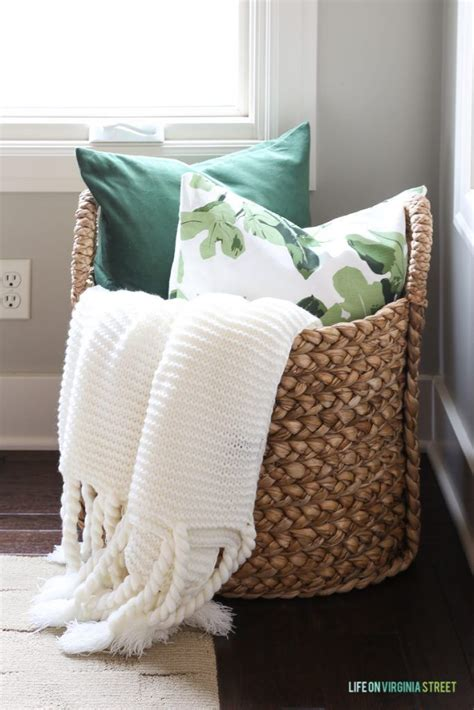 large basket for storing throw pillows 25 best ideas about blanket basket on pinterest blanket