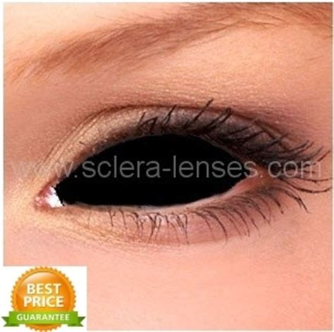 buy online black sclera contact lenses, black full eye