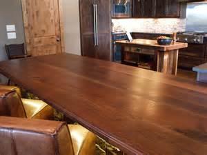 rustic gun room in highlights walnut wood tops