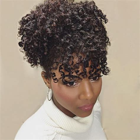 curly hairstyles in a ponytail afro kinky curly ponytail human hair extensions drawstring