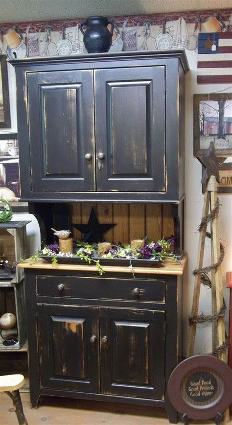black distressed hutch made by wayne avery country