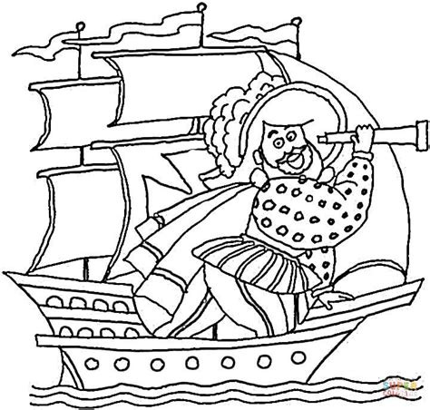 free printable coloring pages of the nina pinta santa maria the pinta coloring page coloring home