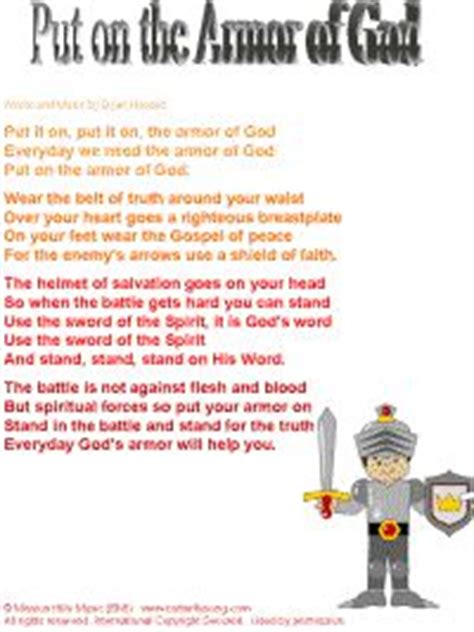 armour song 110 best images about children s bible armor of god on armor of god