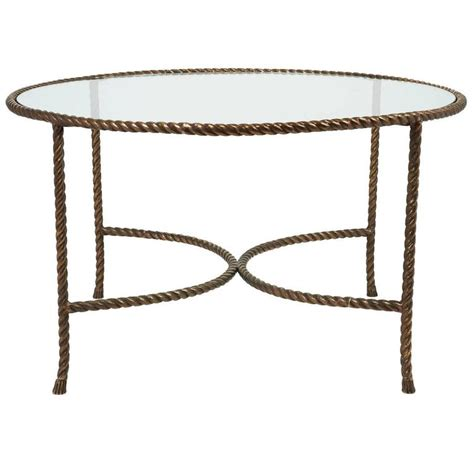 Rope Table L with Italian Solid Bronze Rope And Tassle Cocktail Table For Sale At 1stdibs