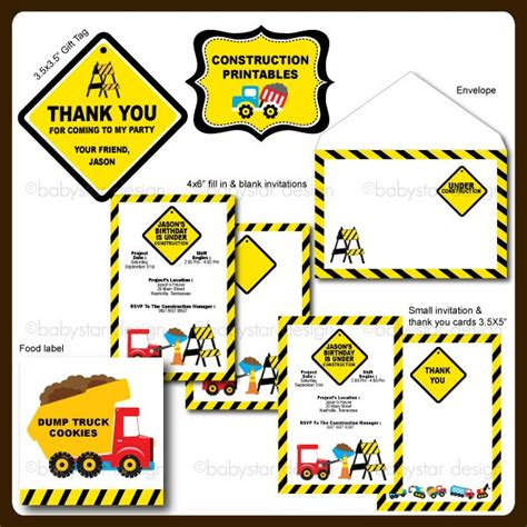 printable elf construction signs construction party printables