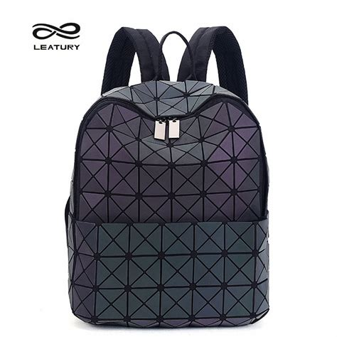 3 5 Bag Fashion 2948 leatury newest backpack noctilucent fashion bags laser lattice geometric luminous backpack