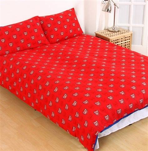 arsenal quilt arsenal football licensed quilt duvet doona bedding cover sets