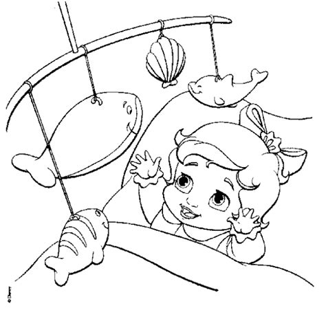 coloring page baby ariel baby melody the little mermaid coloring pages colorings net