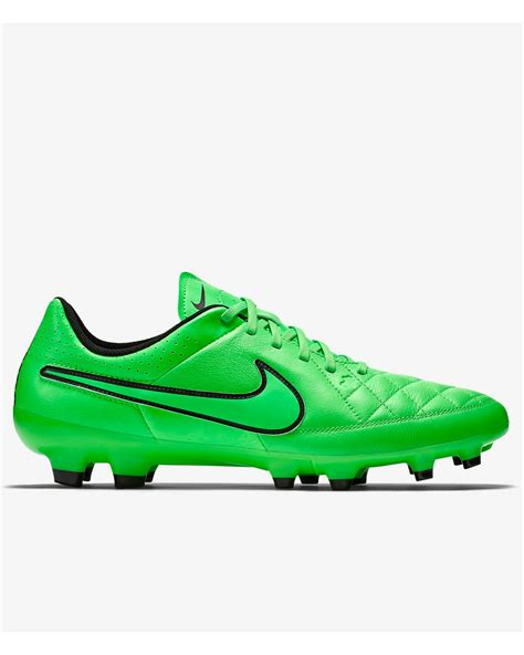 nike green football shoes football boots shoes nike cleats tiempo genio leather fg