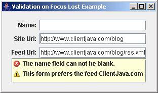 java swing text field validation field list validator exle data validation 171 swing